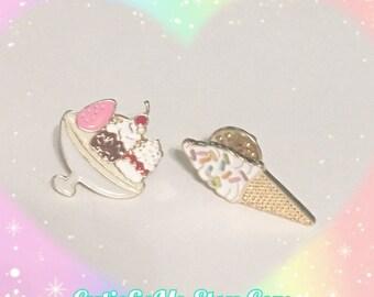 Sundae Plate Or Ice Cream Cone Pin