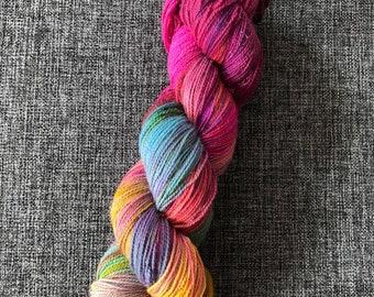 Galaxia, hand dyed yarn, sparkle yarn, 4ply yarn, ooak, superwash merino, stellina,