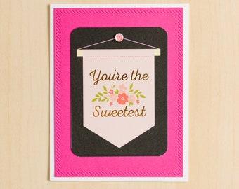 Greeting Card   Handmade Card   Friendship Card   Blank Inside Card