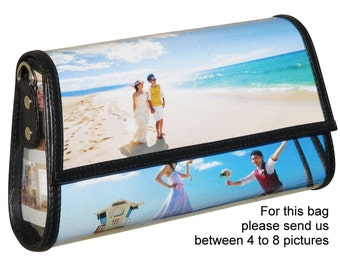 Custom clutch bag with pictures from you - FREE SHIPPING - gift gifts for mom girlfriend grandmother personalized customized purse purses