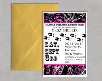 Came Baby Shower Invitations