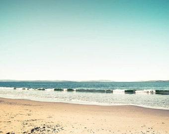 nautical decor beach photography ocean 8x10 24x36 fine art photography coastal decor seascape sea landscape pastel wall art teal min beach