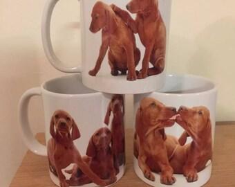 Hungarian Vizsla Puppy Mug Set x3 Dog Mugs