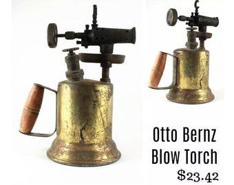 Antique Brass Blow Torch // Otto Bernz Co. // Steam Punk