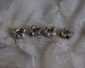 4 Crystal Rhinestone Cuff Bangle Doll Bracelets Fit Petite Slimline Monster and Ever After Pullip dolls