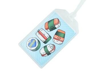Spam Luggage Tag, Custom Luggage Tag Holder, Mens Luggage Tag, Printed Luggage Tag, Kids Luggage Tag, Pattern Luggage Tag, Boys Luggage Tag