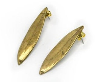 Olive LEAVES  Earrings Made with best quality bronze, original design