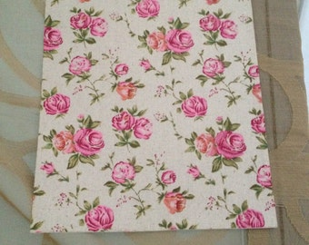adhesive cotton fabric with roses in vintage style