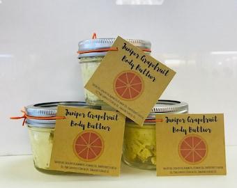 Juniper Grapefruit  Body Butter, Body Butter, Shea Butter