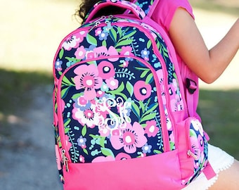 Monogrammed Kids Backpack -Girls Backpack - Personalized Kids backpack- Poise Print