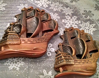 Nautical, Sailing Clipper ship, chalkware, Vintage ship, Vintage sailing, vintage sailing clipper, vintage chalkware, Man cave, Clipper Ship