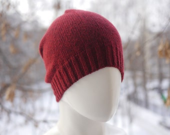 Knitted hat beanie (4 colours). Knitwoman hat. Beanie woman hat. Knitted hat for man. Slouchy hat