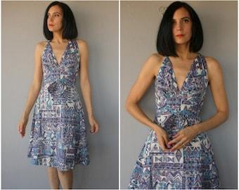 Vintage 1960s Dress | 60s Sundress | 1950s Day Dress | 50s Dress | 1950s Halter Dress | 60s Dress | 1960s Day Dress | 50s Sun Dress