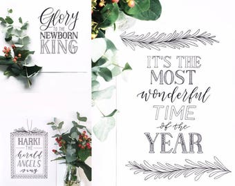 Hand drawn typography Christmas cards - Type by Alice Christmas cards - Christmas card selection - Luxury cards
