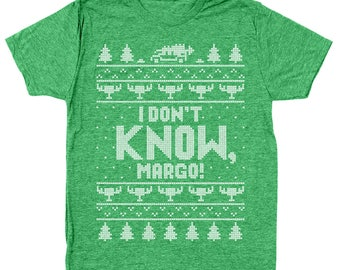 I Don't Know Margo Funny Christmas Vacation Shitter Was Full Men's Tri-Blend T-Shirt DT1650