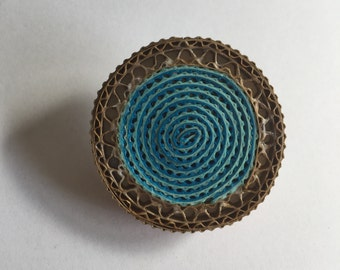 Abstract round brooch