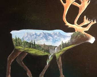 11x14 Caribou Print