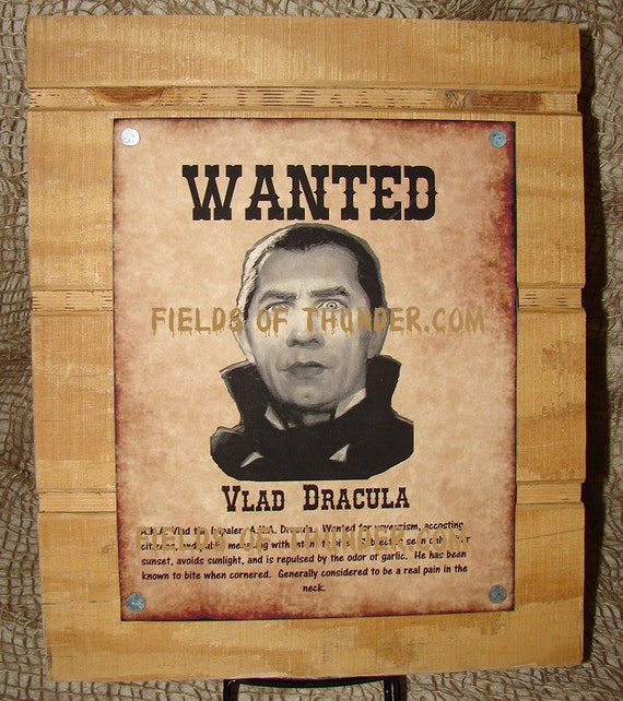 Items similar to Wanted Poster for Dracula - Halloween Art Work on Etsy