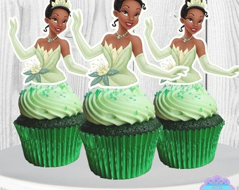Princess TIANA Cupcake Toppers, Cupcake Picks,  INSTANT DOWNLOAD
