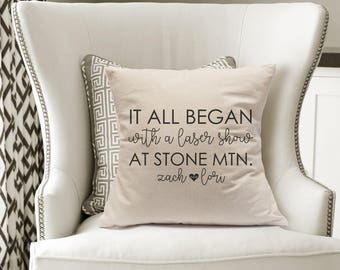Where It All Began Pillow|All Began With|15th Anniversary Gift|Custom Wedding Gift|20th Anniversary|Master Bedroom Decor|Best New Home Gift