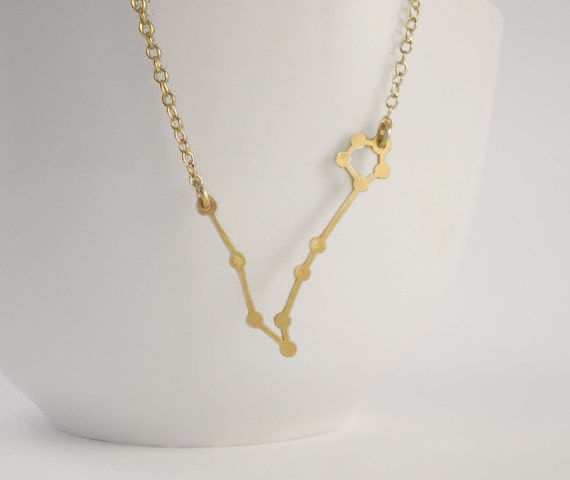 necklace close aquarius no diamonds silver constellation products up zodiac all
