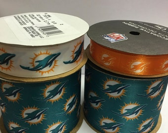 NFL Miami Dolphins, 4-pack of Ribbon, Licensed NFL Offray Ribbon