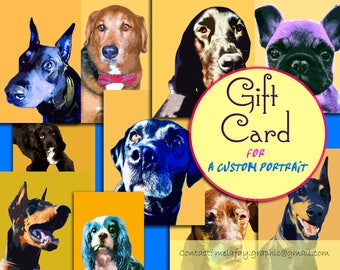 Last minute gift, Birthday gift card, Printable gift, Gift certificate, Gift card, Personalized gift, Dog owner gift, Pet lover gift idea