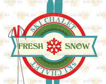 Ski Chalet svg Holiday svg Holiday decor svg Winter svg Winter decor svg Christmas svg Christmas decor svg Silhouette svg Cricut svg eps dxf