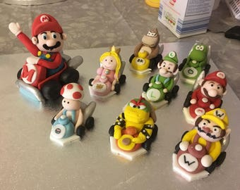 Mario edible Cake and cupcake toppers
