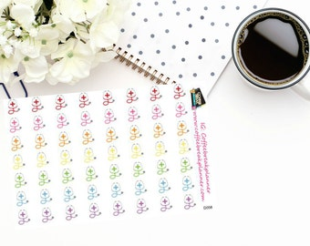 Planner Stickers |Stethoscope Stickers|Doctor Stickers|Physician Stickers| Doctor Appointment Stickers|For use in a variety of planners|D058