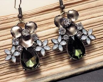 Vintage Inspired Orchid Earrings