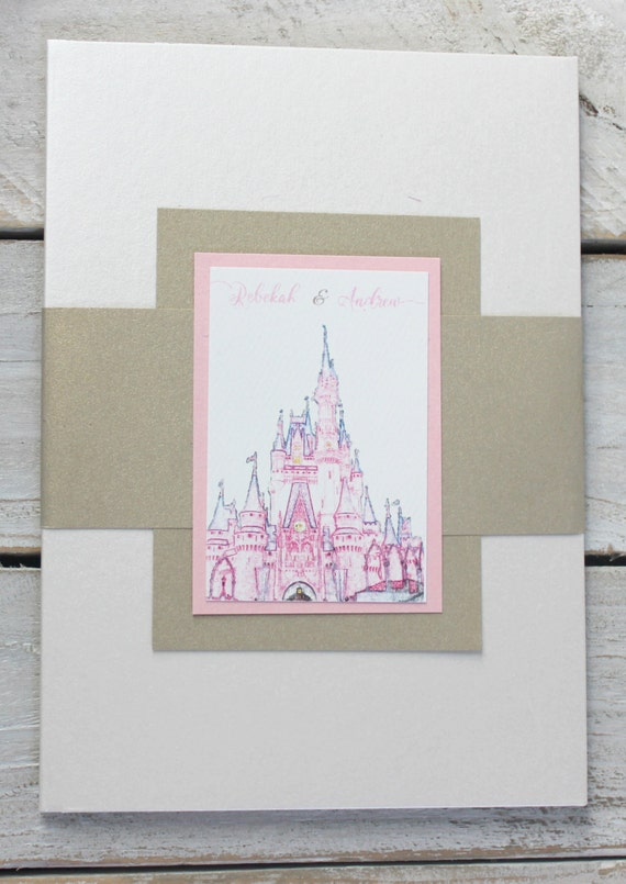 Cinderella wedding invitation Disney wedding fairytale