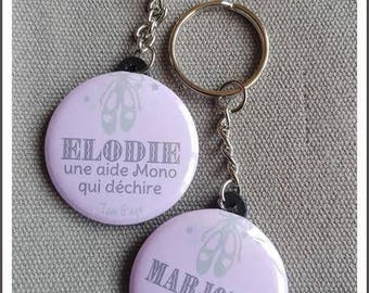 personalized Keychain: choose personalization