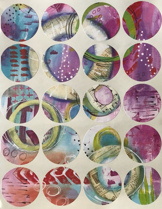 Abstract Art Stickers Labels Original Art FREE SHIPPING