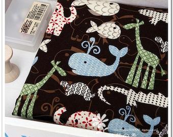 Baby Cotton Fabric Cloth -DIY Cloth Art Manual Cloth - Animal Paradise 43x19 Inches