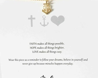 Anchor Necklace Choker Gold Anchor Necklace Anchor Necklace Minimalist pendant necklace Simple charm necklace Layared neckalce