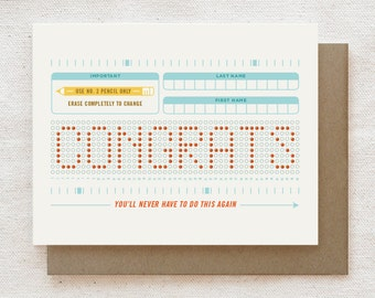 Funny Graduation Card, Funny congratulations card, Graduation card for friend for son daughter, Happy Graduation, College Grad - Scantron