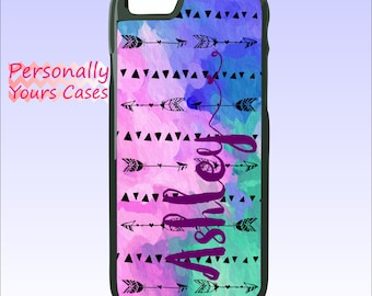 Personalized Phone Case - iPhone 6 Case - iPhone SE - Galaxy S7 Edge - Arrows triangles Boho  - Plastic, Rubber, Tough Case