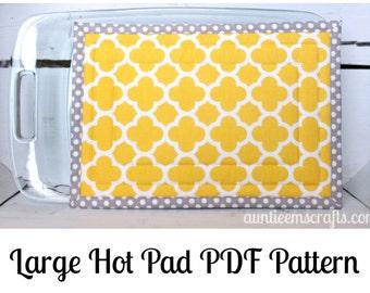 Extra Large Hot Pad PDF Pattern