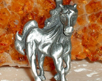 Pretty Pewter Horse Pendant
