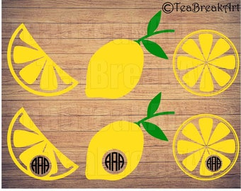 Lemon Cutting Files SVG PNG EPS ClipArt Instant Download iron on heat transfer shirt decal 523C