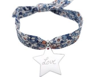Tieners op liberty zilveren ster armband