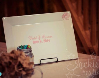 Wedding/Marriage Guest Book Signing Plate