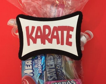 Karate Birthday - Karate Party Favor - Martial Arts - Karate Kid - Ninja Birthday - Ninja Party - Karate Ninja Party - Karate Tag