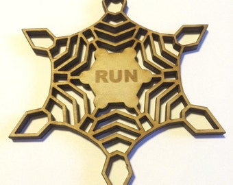 Running Ornament with Crystal Lattice Running Gifts Christmas Ornament