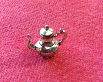 Tiny Teapot for Dollhouse Serving or Cabinet,  3/4 Inches high