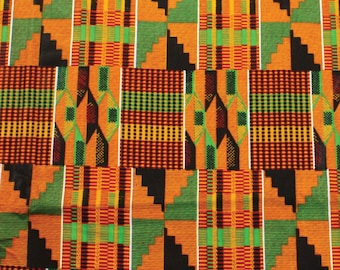 African Kente Print - Serengeti Fabric - two yards