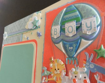 Baby Boy 12x12 Premade Scrapbook Page Scrapbook Pages Scrapbooking