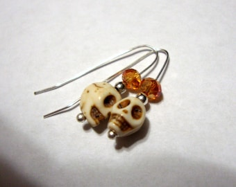 BOO - Halloween Earrings - comfortable - plate or eco-friendly 925 sterling silver from recycled - about 1 inch - Custom Made by my hand