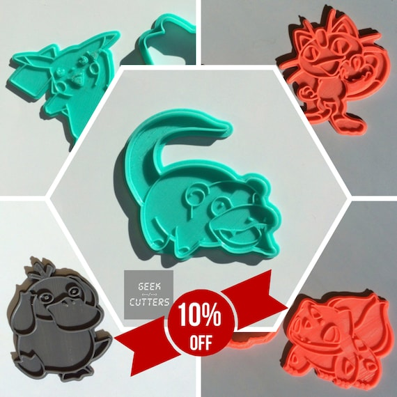 Pokemon Collection Set Cookie Cutter  - *Dishwasher safe option* - 3D Printed